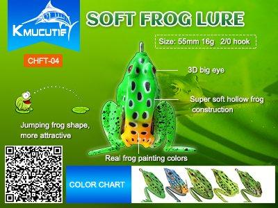 Kmucutie soft frog lure wholesale