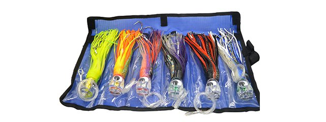 Big promotion baits 9 inch 6 pcs acrylic head octopus trolling skirt lure packing net bag-CHOCT25