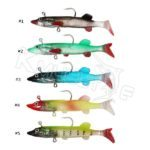 Wholesale rigged soft shad fishing lures for sea bass