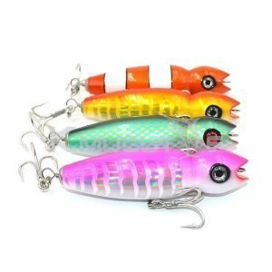 Read more about the article Fishing Lures Gibbs Darter Wooden Colorful Saltwater Swimming Plug Bait  Tuna Popper