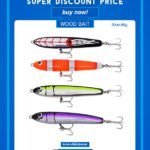 Wood pencil fishing lures wholesale in discount price