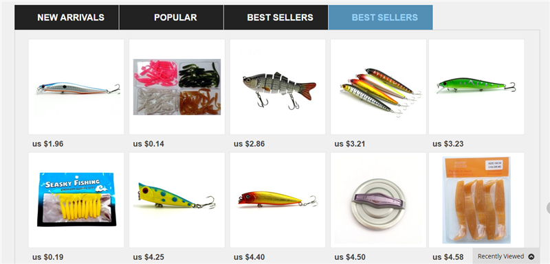 fishing tackle e-commerce web site