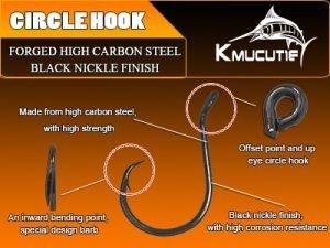 Circle Hook 5pcs Value Pack-High carbon steel tuna hook