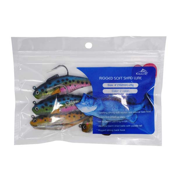 Rigged soft shad lure wholesale sea bass fishing lure for Rigged fishing backpack
