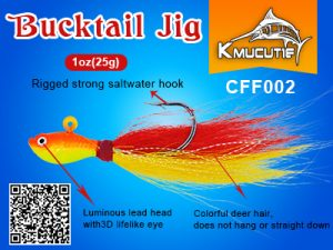 bucktail jig wholesale 1oz