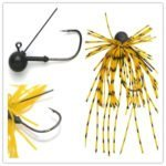 Kmucutie Tungsten Jig Heads Fishing Lures With Rubber Skirts