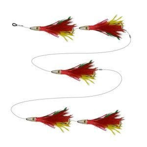 Feather chain trolling lure
