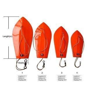 5pcs 178mm Sea fishing trolling boards Deap sea fishing boat artificial bait diver board