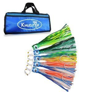"Resin head skirts trolling lures 8"" 5pcs marlin lure set"