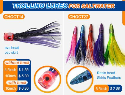 In stock trolling fishing lures wholrsale
