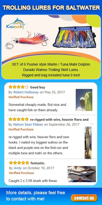Kmucutie customers reviews for saltwater fishing