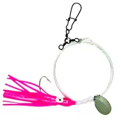 Fluke Flounder Squid Rig 1/0 hooks with 10 color