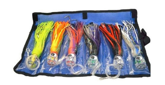 You are currently viewing Set of 6 Pusher Marlin  Tuna Trolling Lures Rigged And Bag Included Tuna Pop