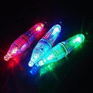 12cm Multi-color LED Fishing Fish Luring Light Lamp Underwater Squid Bait Lure.