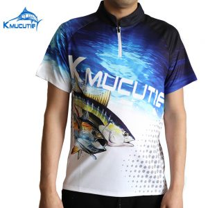 Kmucutie New product durable comfortable sun UV protection fabric fishing shirt clothes