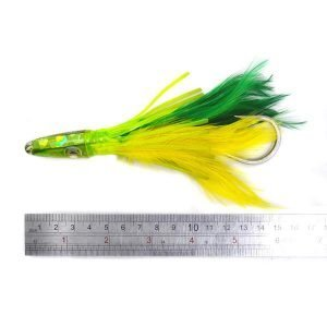 Feather fishing Lure Tackle Soft Squid Skirt Octopus trolling ture