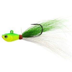 3D Eye Fishing Bucktail Jigs Saltwater Bucktail Fishing Lure Fishing Tackle Accessories   Bucktail Fishing