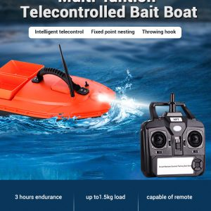Kmucutie Fishing Bait Boat Fish Finder 1.5kg Feed Delivery Loading 500m Remote Control High Speed Fishing Boat